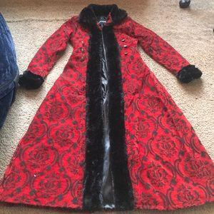Crimson Red Winter Coat